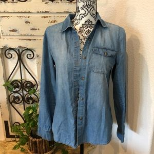 Wet seal chambray button down